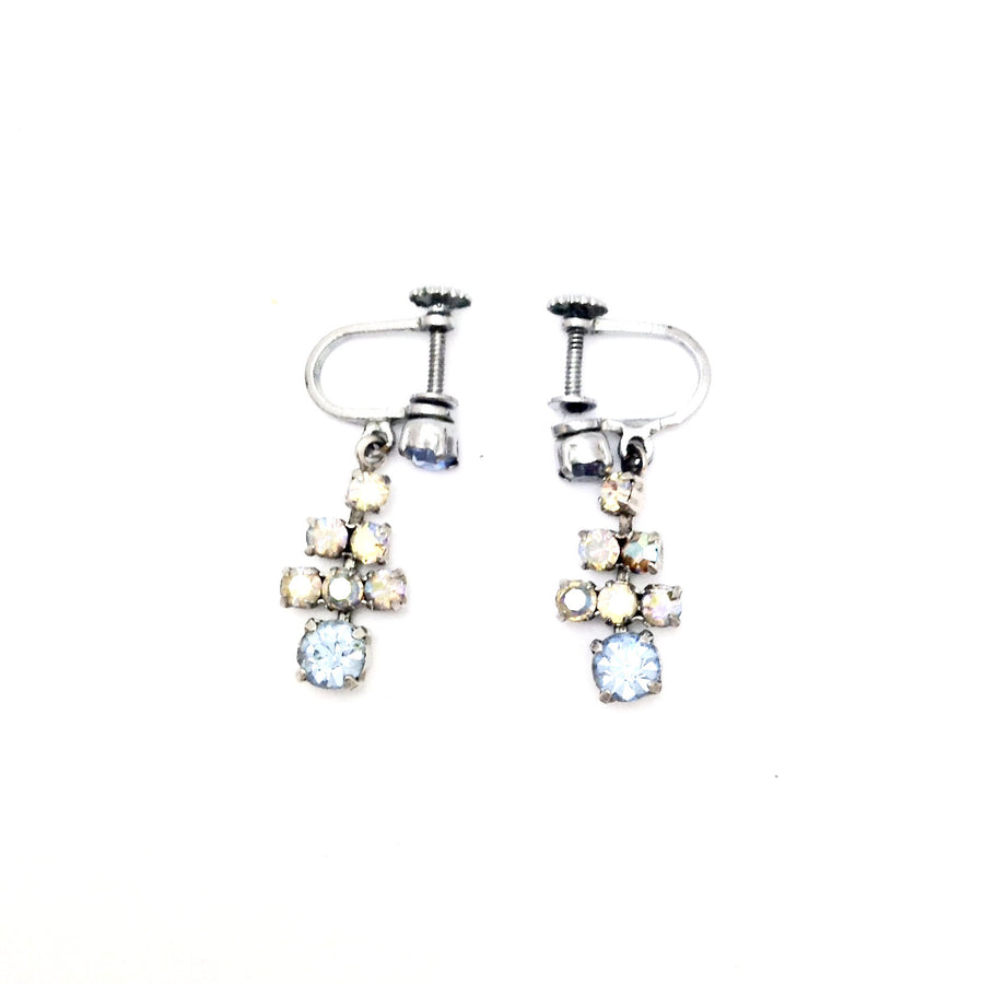 Vintage Crystal Drop Earrings, Vintage, Putti Fine Furnishings