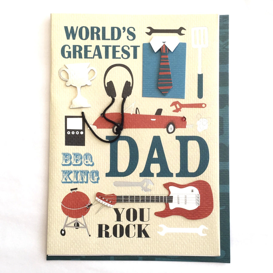 """World's Greatest Dad"" Greeting Card"