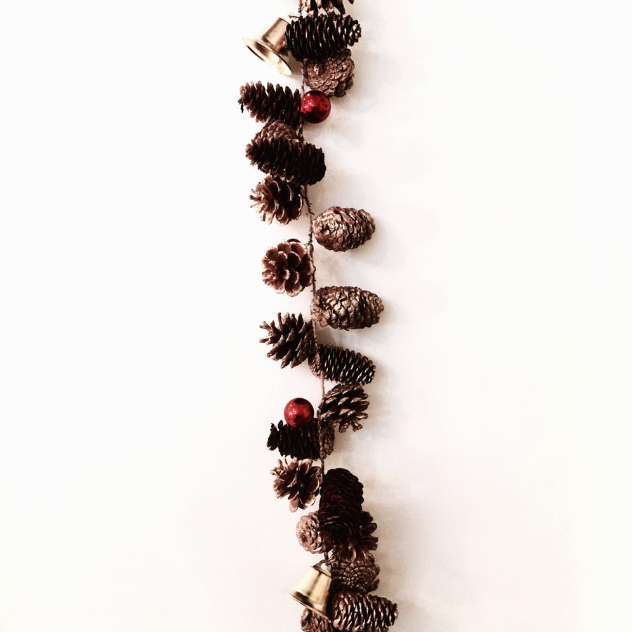 Pine Cone & Gold Bell Garland -  Christmas - GI-Green Imports - Putti Fine Furnishings Toronto Canada