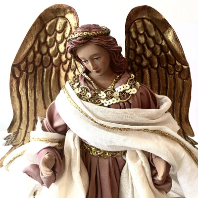 Angel with Dusty Pink Gown -  Christmas Decorations - Christmas Tradition - Putti Fine Furnishings Toronto Canada - 3