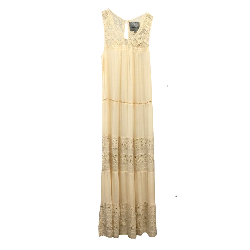 "Summer of Love ""Anita"" Cream Maxi Dress"