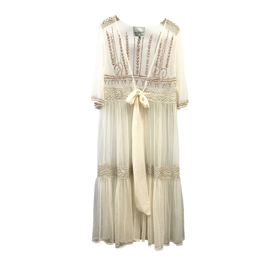"Summer of Love ""Fita"" Embroidered Chiffon Coverup"