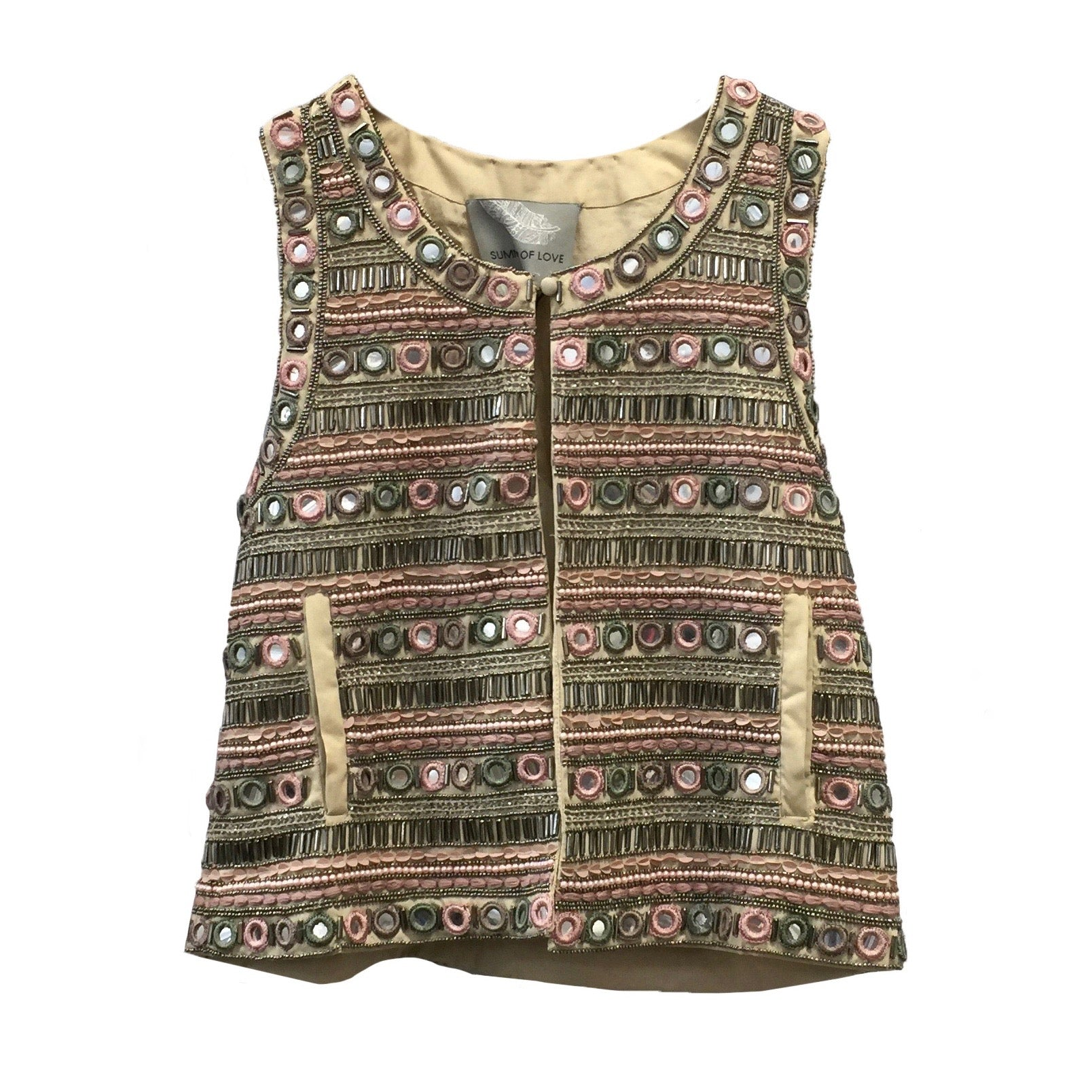 "Summer of Love ""Swati"" Beaded Vest, SOL-Summer of Love, Putti Fine Furnishings"