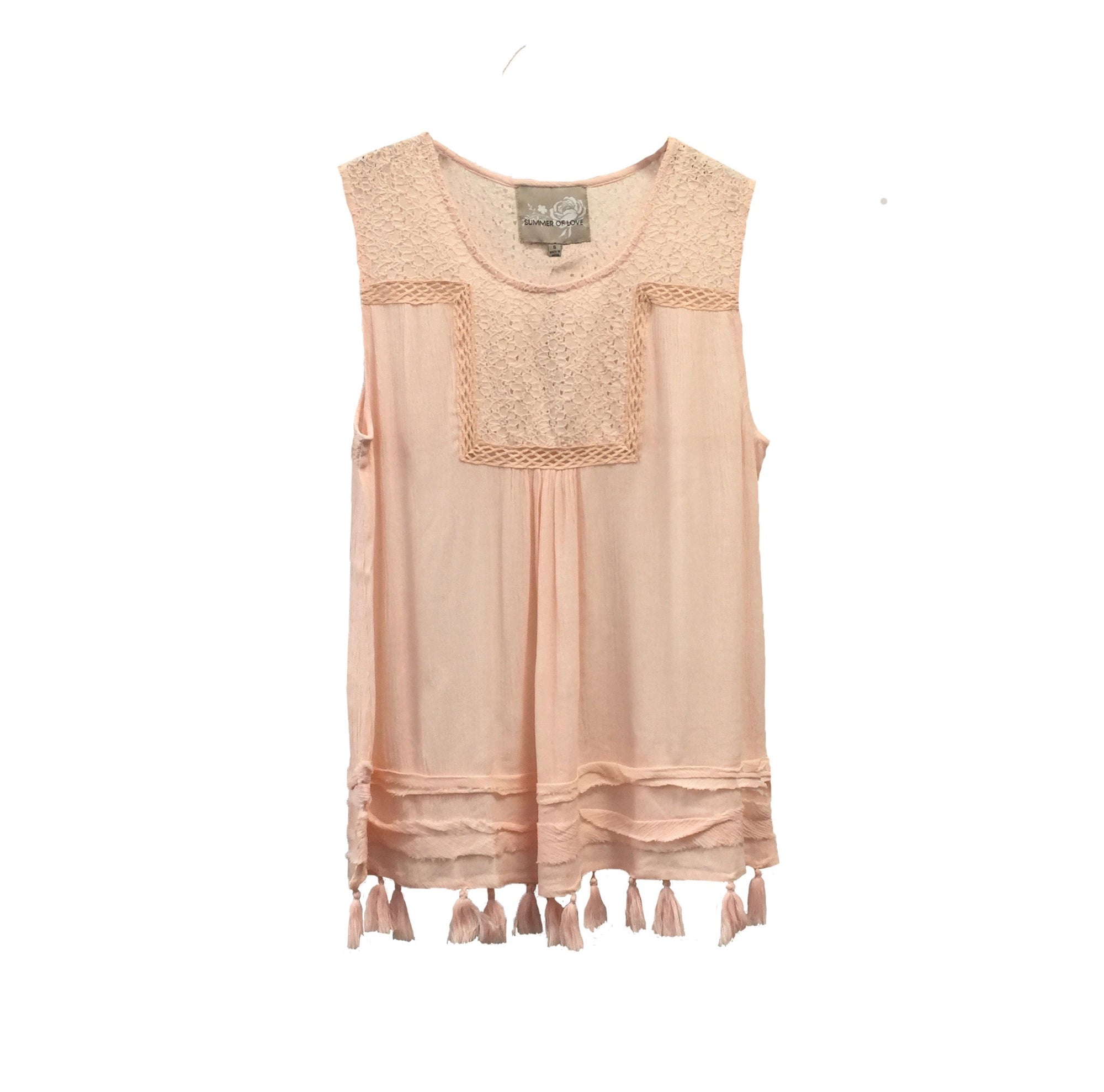 "Summer of Love ""Alana"" Blush Pink Top, SOL-Summer of Love, Putti Fine Furnishings"