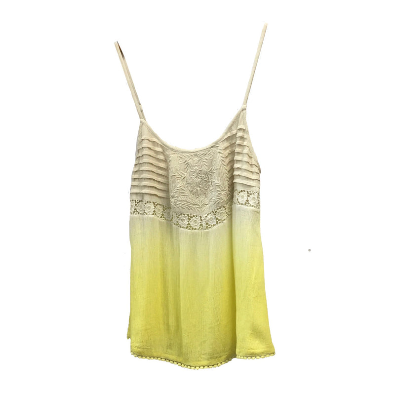 "Summer of Love ""Charli"" Lemon Yellow Camisole, SOL-Summer of Love, Putti Fine Furnishings"