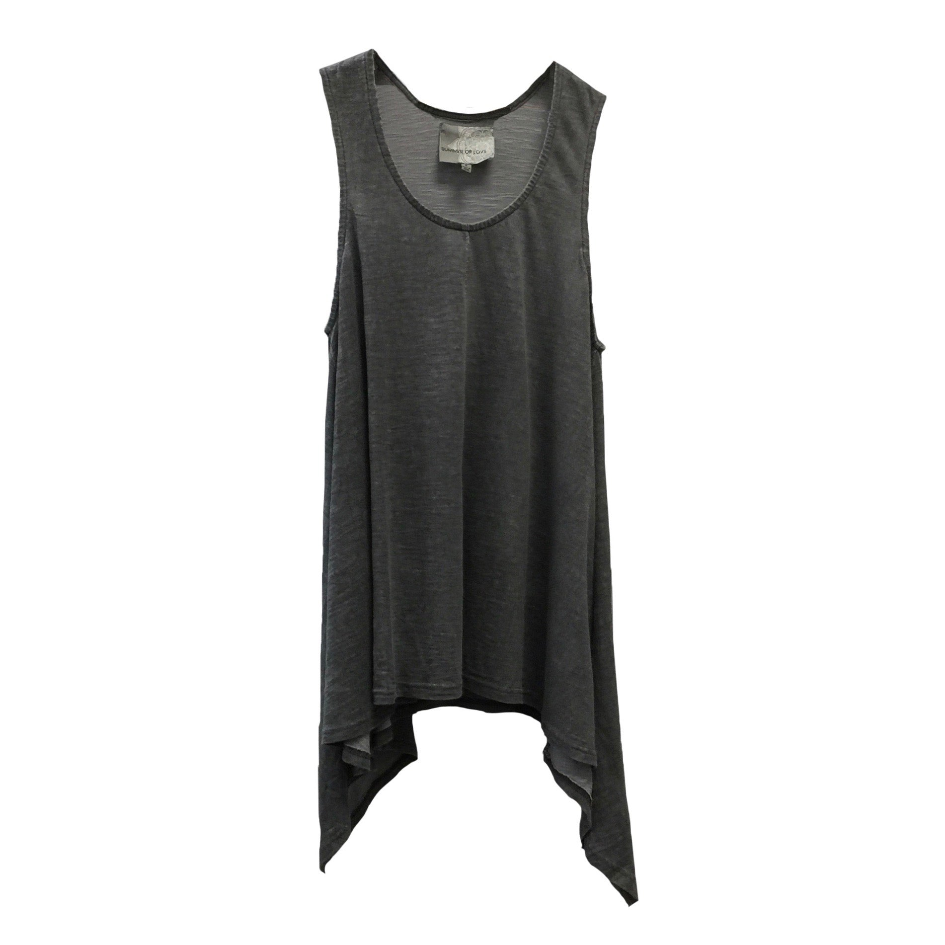 "Summer of Love ""Laga"" Charcoal Sleeveless Top"