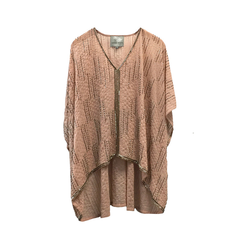 "Summer of Love ""Anara"" Beaded Poncho Top, SOL-Summer of Love, Putti Fine Furnishings"