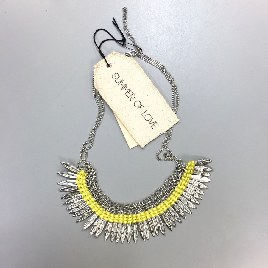 "Summer of Love ""Karitas"" Lemon Yellow Collar Necklace, SOL-Summer of Love, Putti Fine Furnishings"