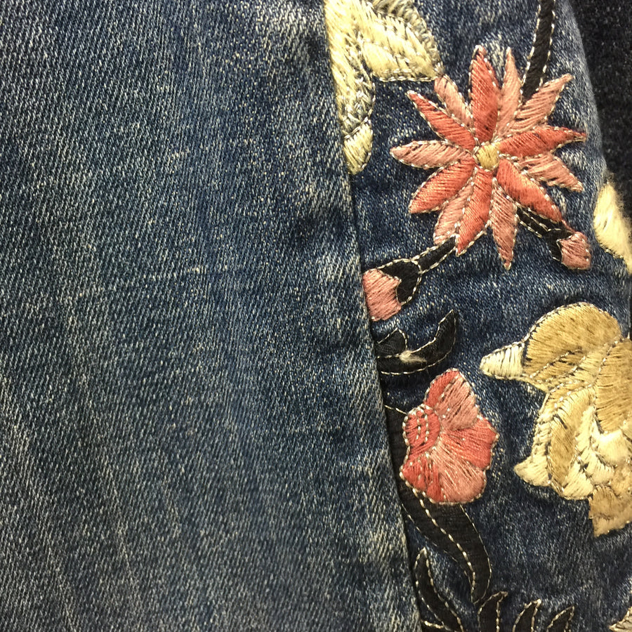 "Driftwood ""Farrah"" Flared Hand Embroidered Jeans, DW-Driftwood, Putti Fine Furnishings"