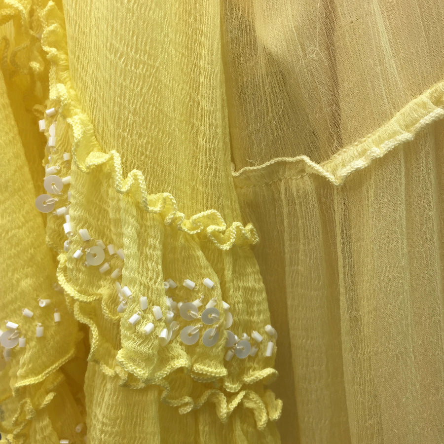 "Summer of Love ""Ivana"" Lemon Chiffon Dress"