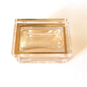 Alessandro Mandruzzato Small Rectangular Murano Glass Box in Gold, Alessandro Mandruzzato, Putti Fine Furnishings