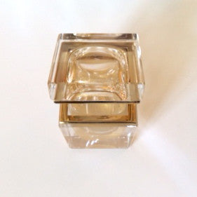 Alessandro Mandruzzato Small Square Murano Glass Box in Gold