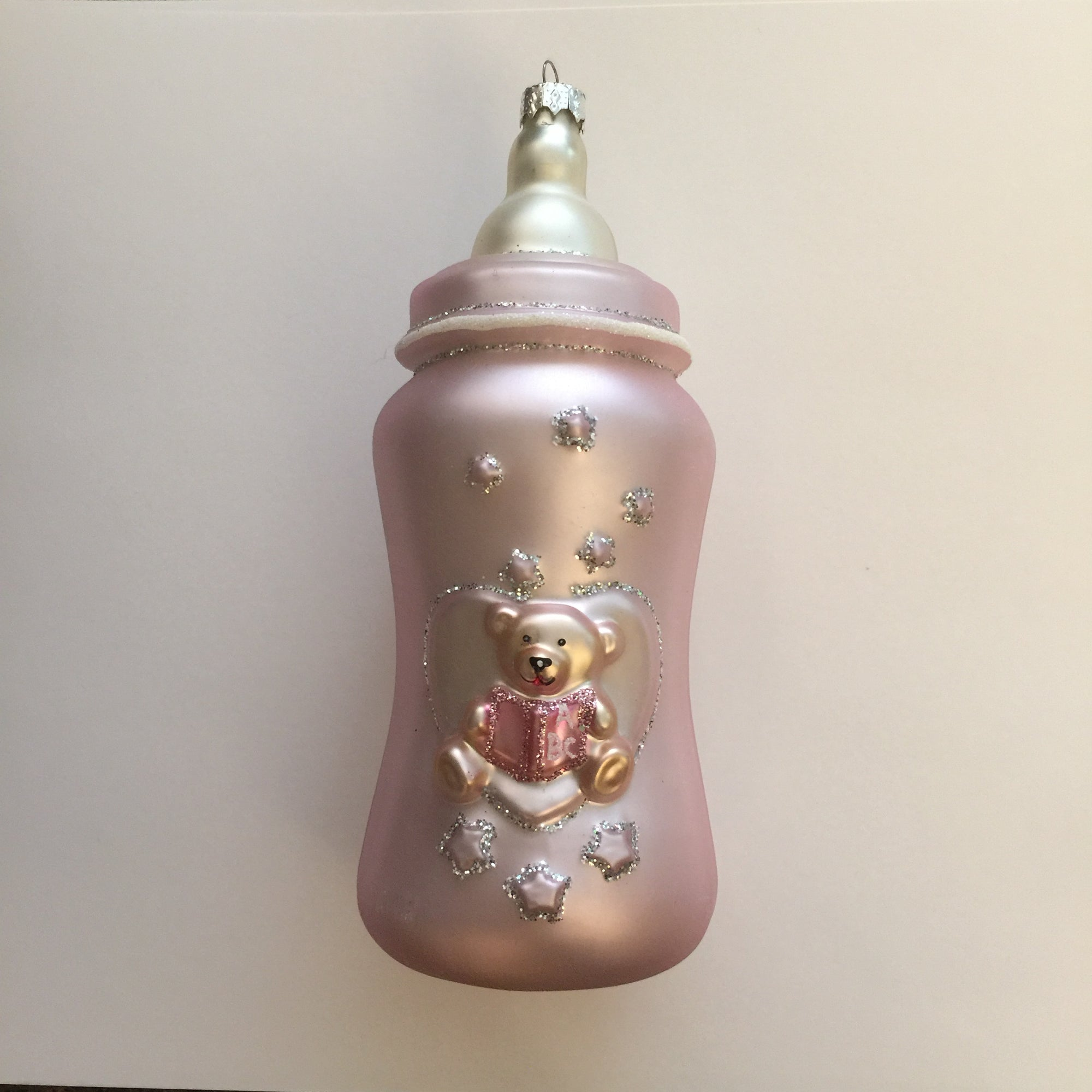 Pink Baby Bottle Ornament, CT-Christmas Tradition, Putti Fine Furnishings