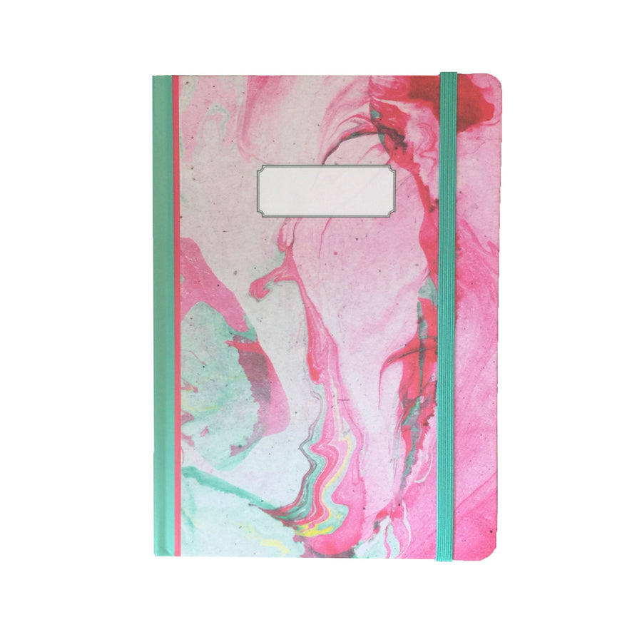 Pink and Green Marble Journal