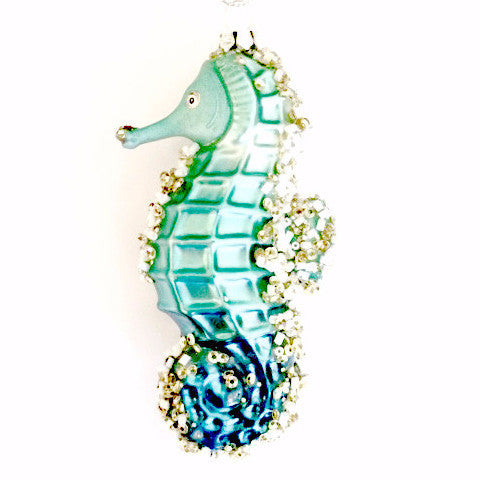 Jim Marvin Glass Seahorse Ornament