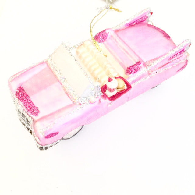 Jim Marvin Pink Cadillac - Glass Ornament -  Christmas - WC-Winward Canada - Putti Fine Furnishings Toronto Canada - 1