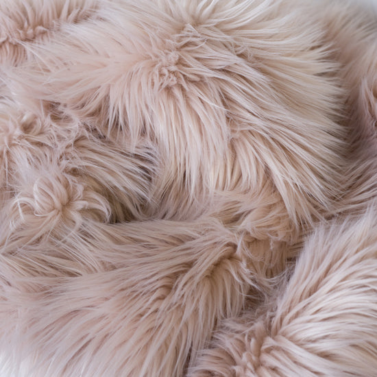 Faux Fur Hide Throw - Blush