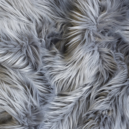 Faux Fur Hide Throw - Grey