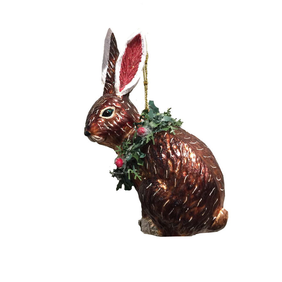 Jim Marvin Glass Rabbit Ornament