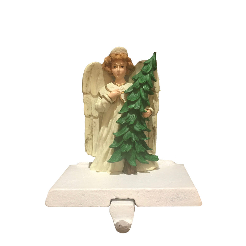 Foreside Home and Garden Angel with Tree Stocking Holder | Putti Christmas
