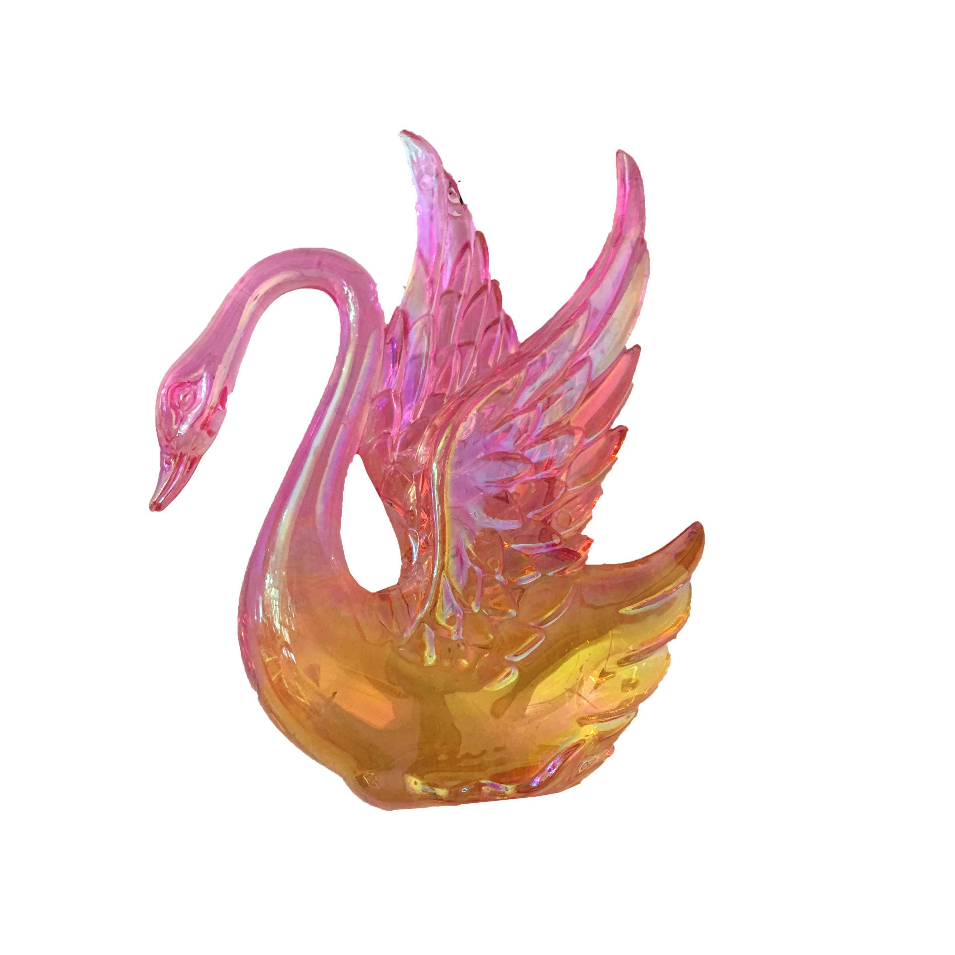 Pink Iridescent Swan Ornament