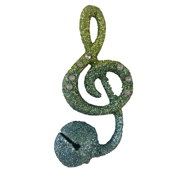 Blue Green Ombre Music Notes, CT-Christmas Tradition, Putti Fine Furnishings
