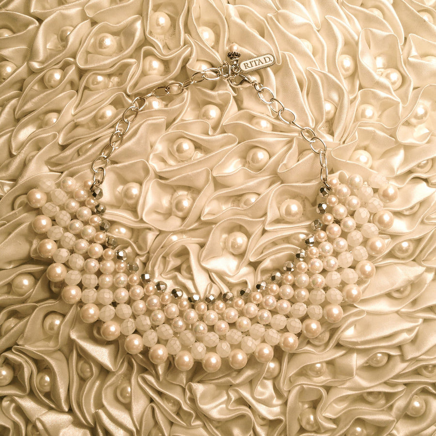 Pearl Collar Necklace by Rita D, Rita D, Putti Fine Furnishings