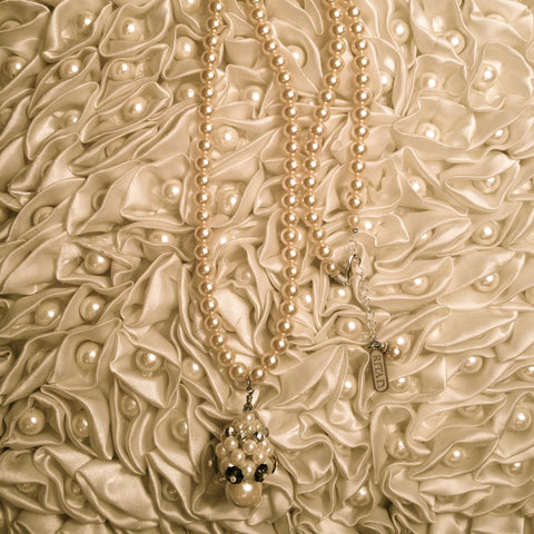 Pearl Drop Necklace by Rita D-Necklace-Rita D-Putti Fine Furnishings