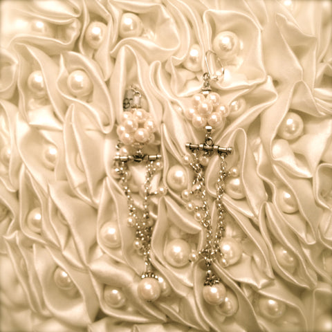Pearl Drop Earrings by Rita D -  Jewelry - Rita D - Putti Fine Furnishings Toronto Canada - 1