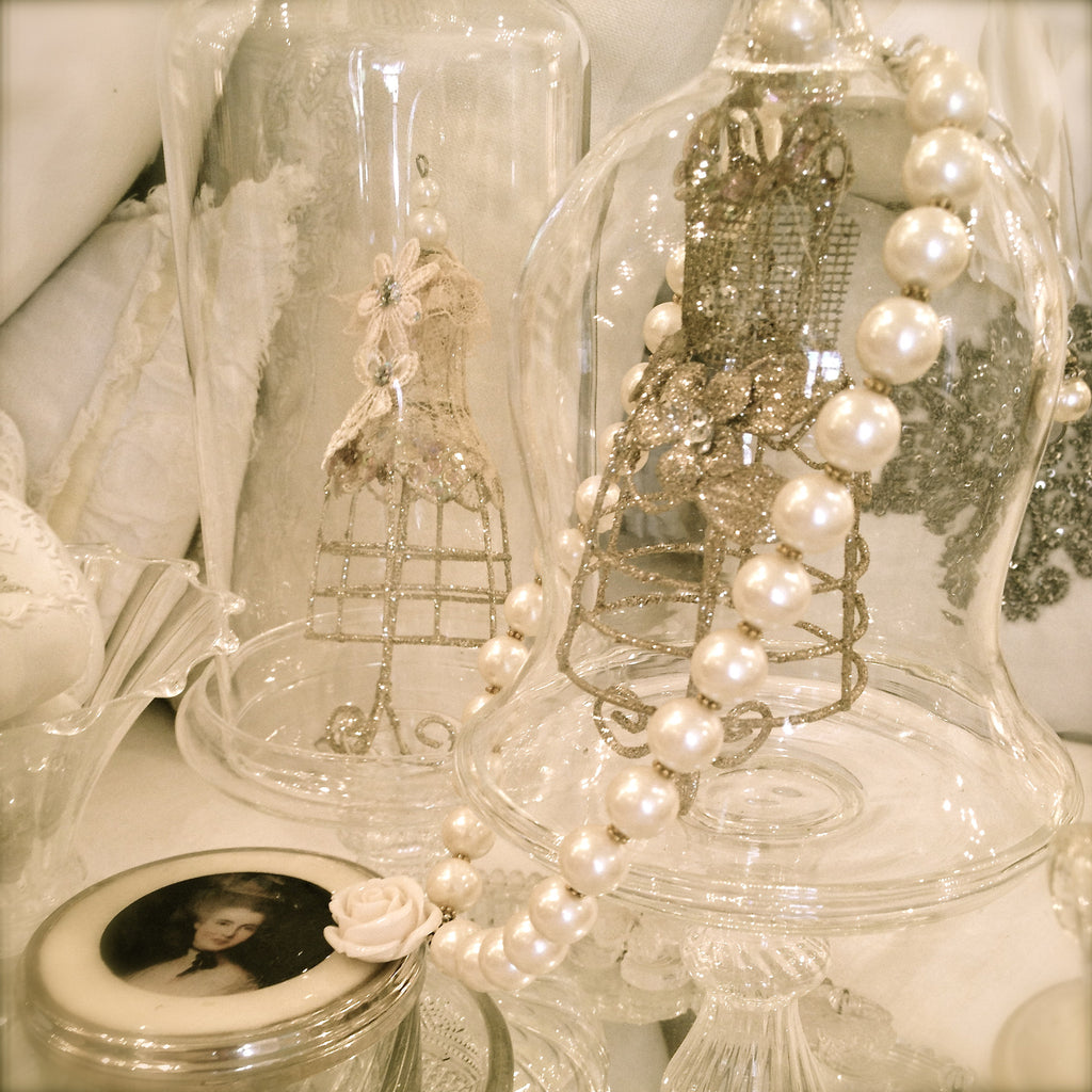 Pearl & Rose Necklace by Rita D-Necklace-Rita D-Putti Fine Furnishings