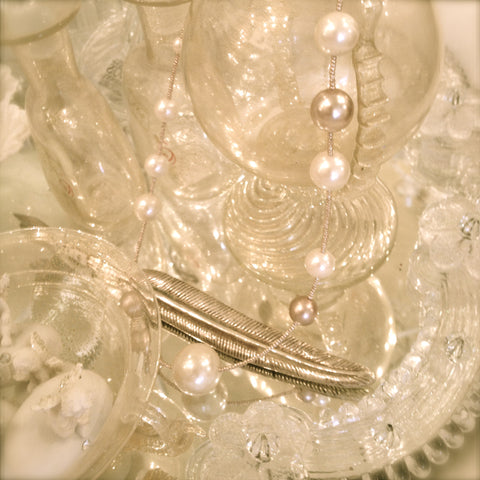 Pearl & Bead Necklace by Rita D -  Necklace - Rita D - Putti Fine Furnishings Toronto Canada - 1