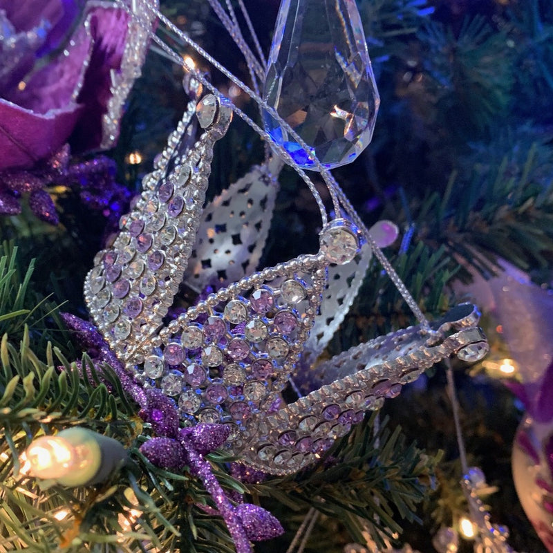 Kurt Adler Royal Splendor Purple Crown Ornament | Putti Decorations