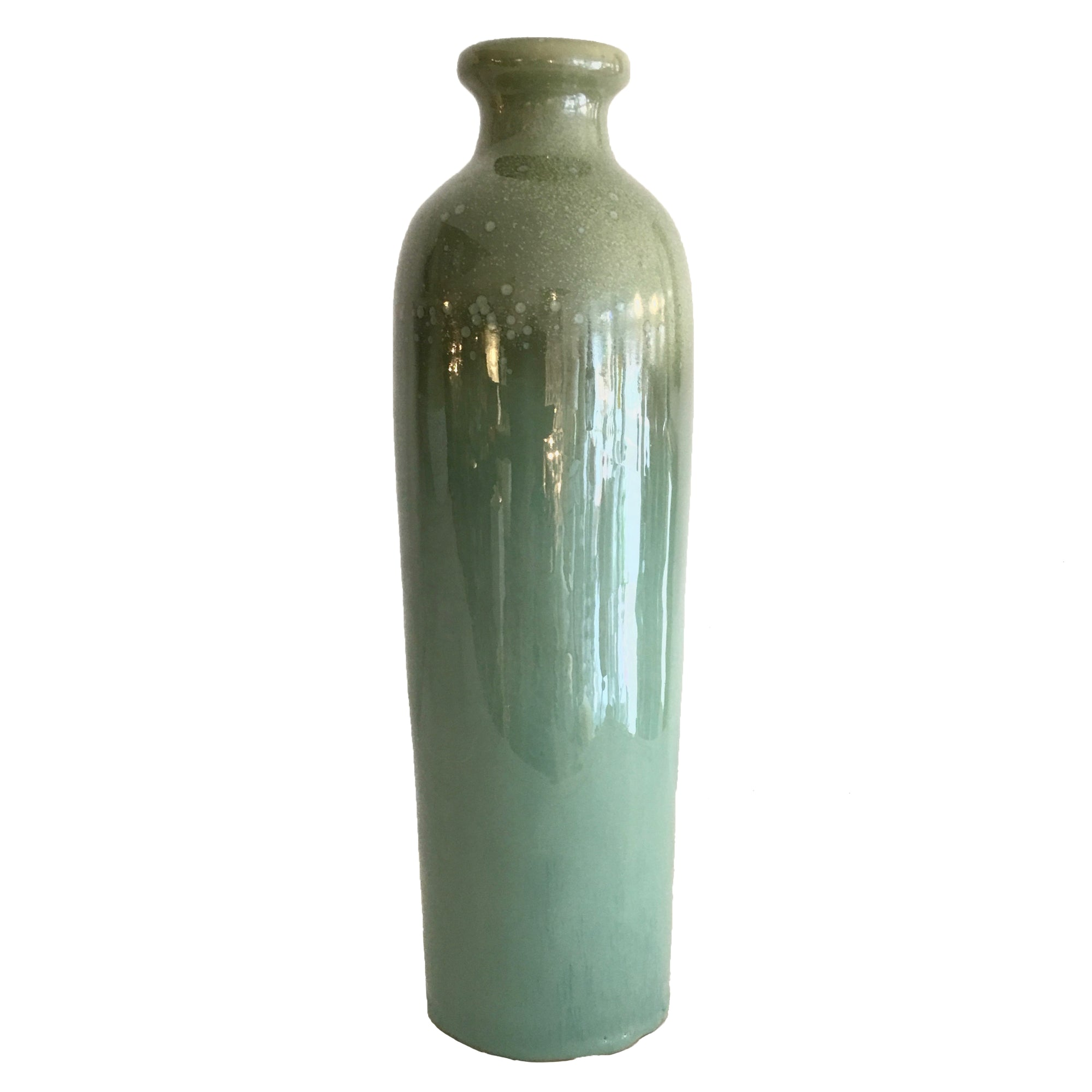 Sky Blue Ceramic Tall Vase
