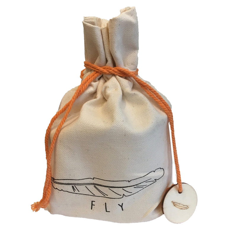 """Fly"" - Candle in Drawstring Bag, CCO-Creative Co-op - Design Home, Putti Fine Furnishings"