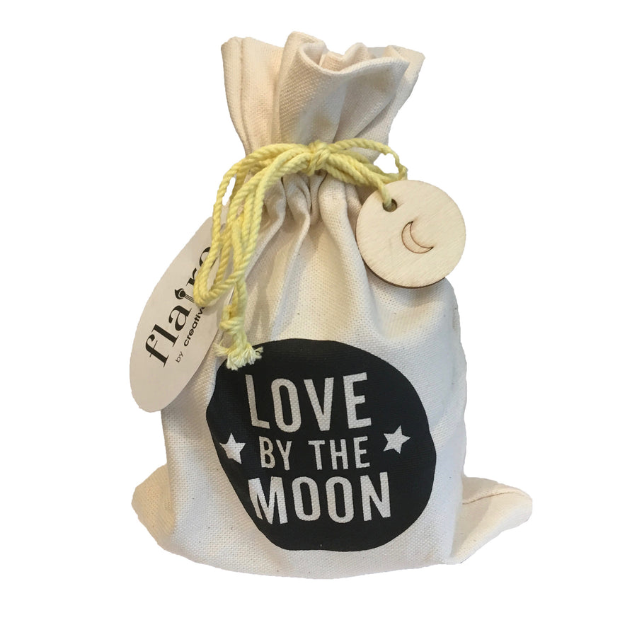 """Love by the Moon"" - Candle in Drawstring Bag"