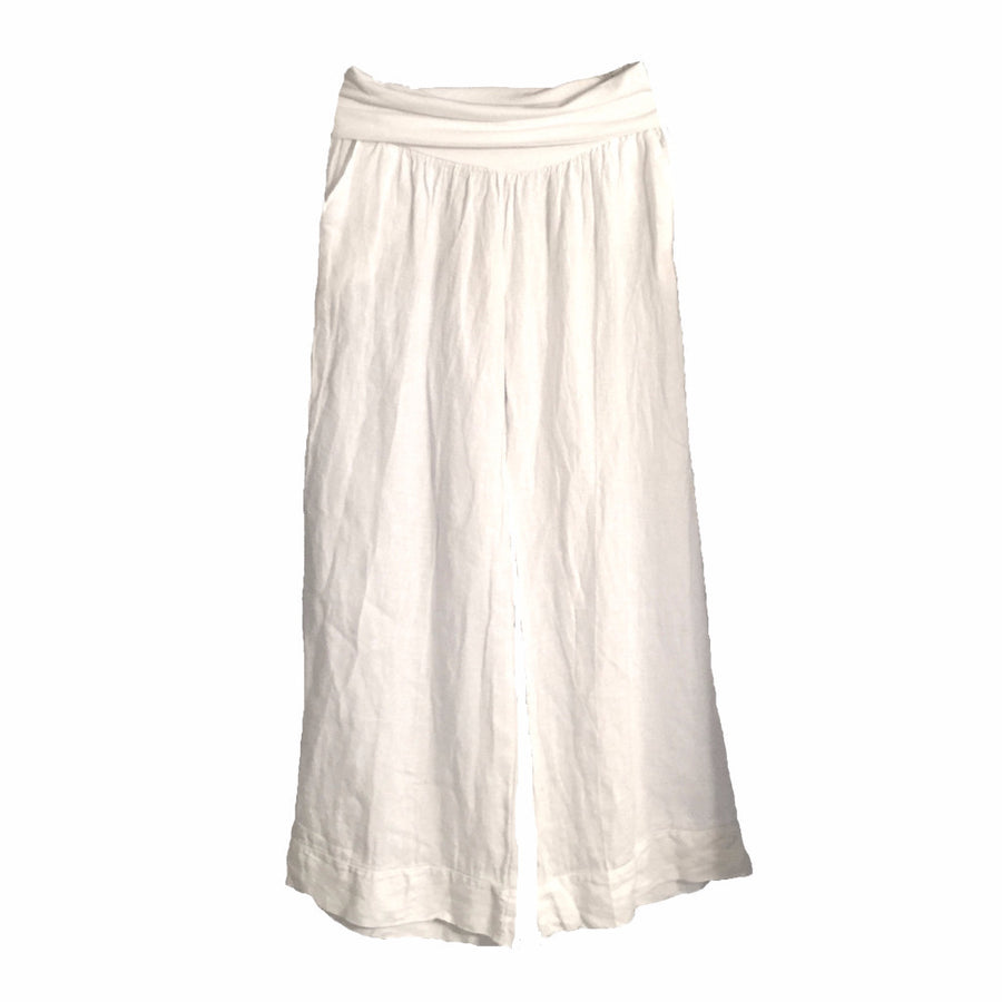 Linen Palazzo Pants - White, TO-Terminal One, Putti Fine Furnishings