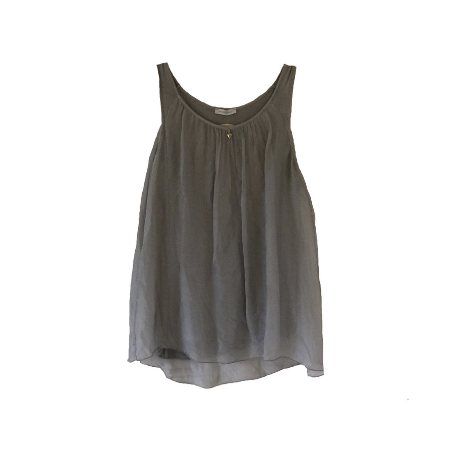 Sleeveless Silver Heart Top - Grey, TO-Terminal One, Putti Fine Furnishings
