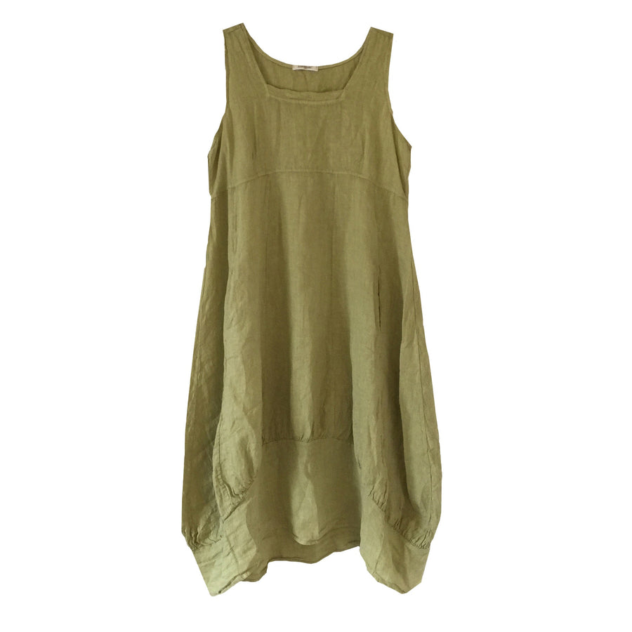 Sleeveless Linen Dress - Lime Green, TO-Terminal One, Putti Fine Furnishings