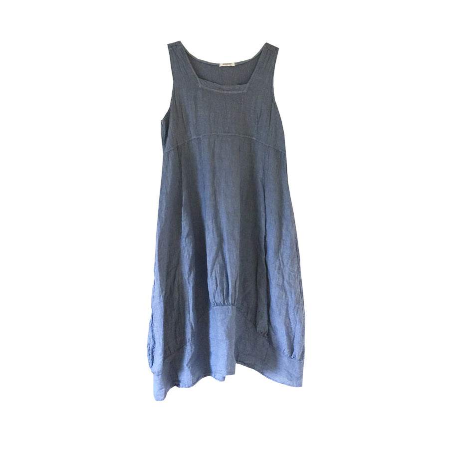 Sleeveless Linen Dress - Denim Blue, TO-Terminal One, Putti Fine Furnishings