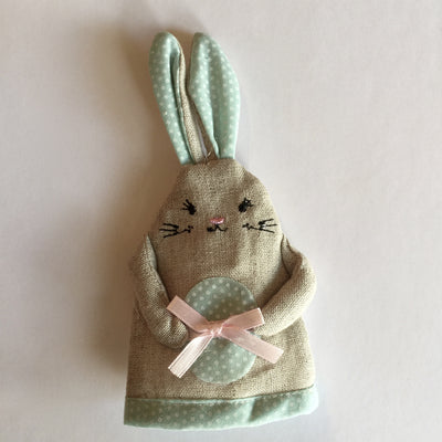 Easter Rabbit Egg Cosy - Blue Easter - RJBS-RJB Stone - Putti Fine Furnishings Toronto Canada - 1