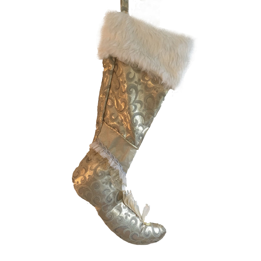 Gold with Fur Cuff Stocking