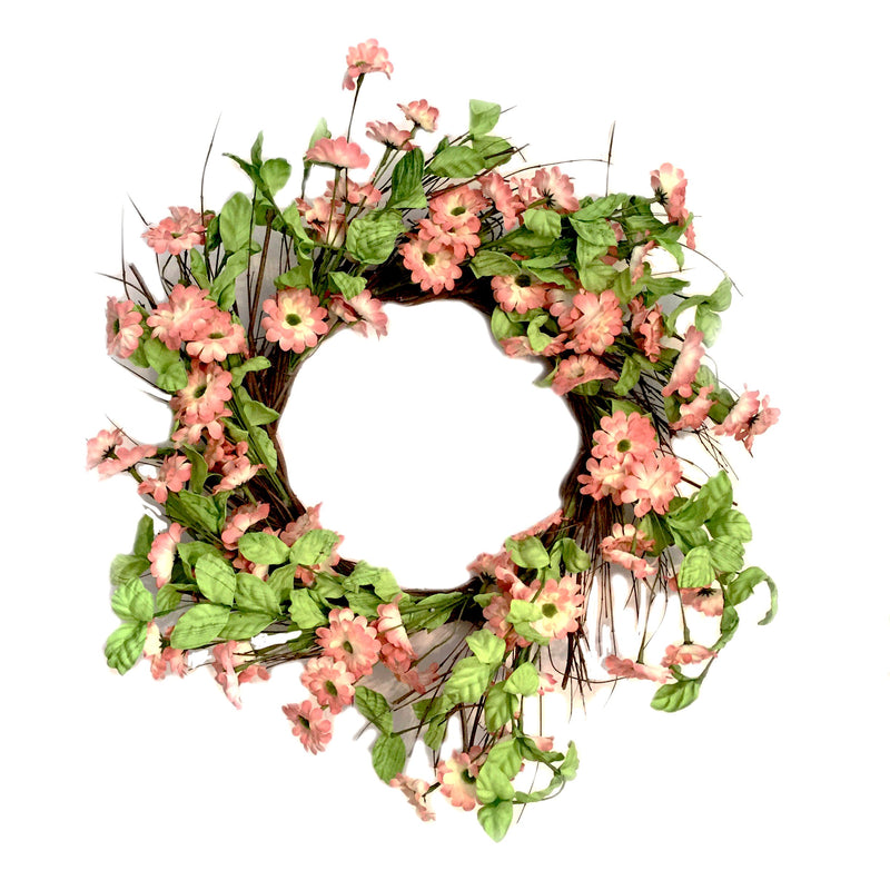 Coral Pink Floral Wreath
