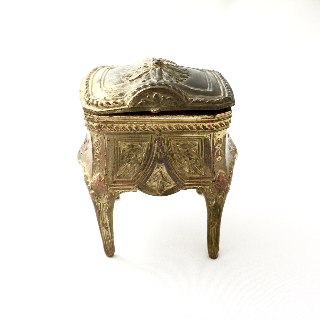 Antique French Gilt Trinket Box-Antiques-Antique French-Putti Fine Furnishings