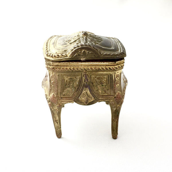 Antique French Gilt Trinket Box -  Antiques - Antique French - Putti Fine Furnishings Toronto Canada - 1