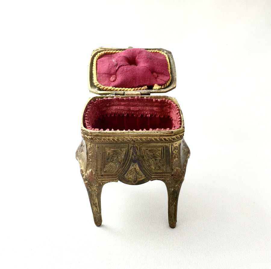Antique French Gilt Trinket Box