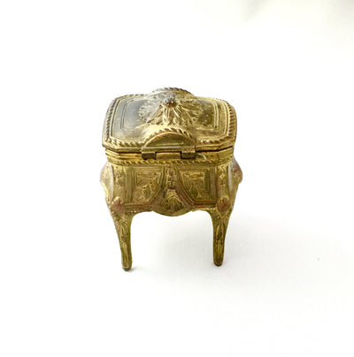 Antique French Gilt Trinket Box, Antique French, Putti Fine Furnishings