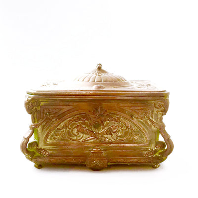 Antique French Gilded Copper Trinket Box, Antique French, Putti Fine Furnishings