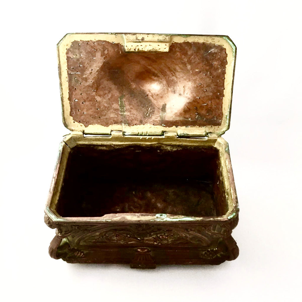 Antique French Gilded Copper Trinket Box -  Antiques - Antique French - Putti Fine Furnishings Toronto Canada - 5