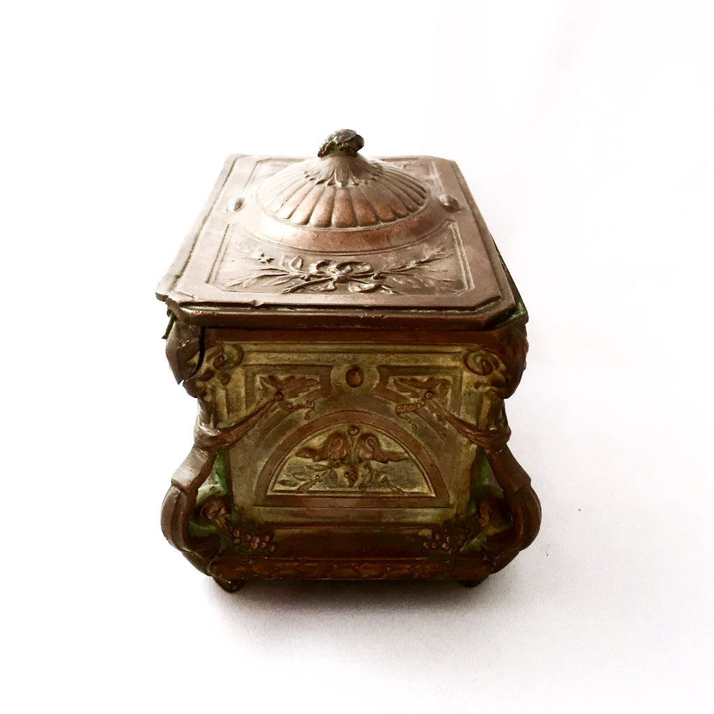 Antique French Gilded Copper Trinket Box-Antiques-Antique French-Putti Fine Furnishings