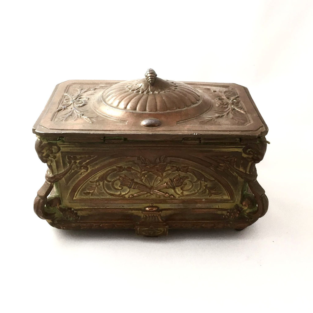 Antique French Gilded Copper Trinket Box -  Antiques - Antique French - Putti Fine Furnishings Toronto Canada - 3